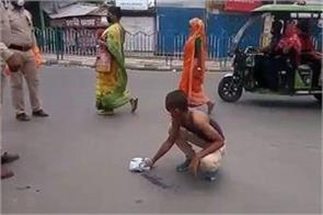 the police removed the young man s clothes and cleaned the road