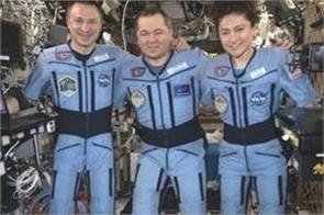 soyuz spacecraft lands safely with us russian crew from space