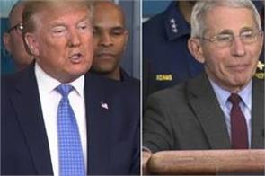 trump calls fauci s caution on schools reopening not an acceptable