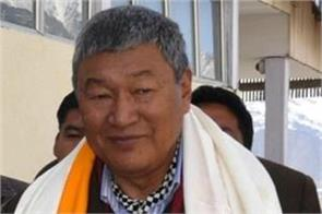 ladakh bjp newly appointed chief chering dorjay resigns