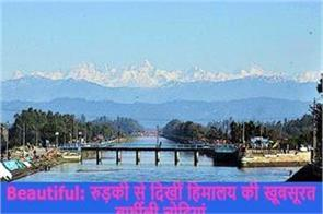 beautiful snowy peaks of himalayas seen from roorkee