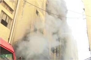 delhi a fire in a shoe making factory in keshavapuram