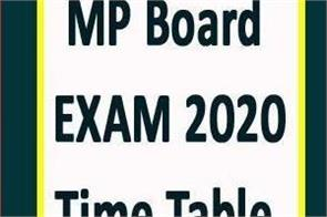 mp board exam revised time table of 12th continues exam started