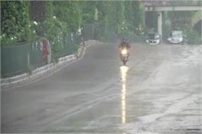 rain with strong winds in delhi ncr