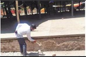 renovation and repair work started in sector 26 market