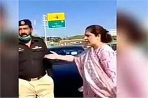 pakistani colonel s wife overthrows police check post barrier