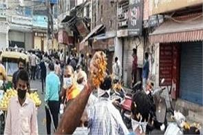 flowers showered on people who came to buy liquor