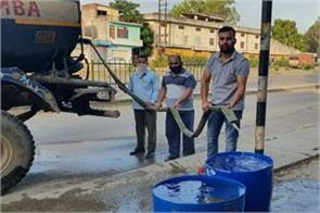 municipal committee provide water for stray cattles