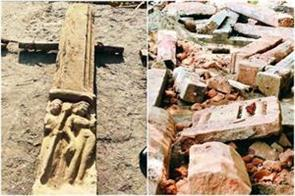 land leveling intensified for ram temple fragmented statues emanating from jcb