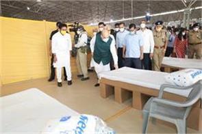 delhi shah visits 10 000 bed covid center