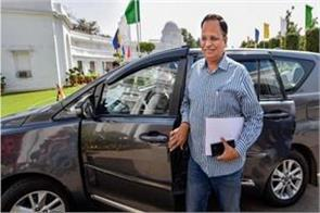 corona positive satyendar jain condition stable
