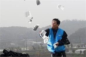 south korean activist floats leaflets to north amid tensions