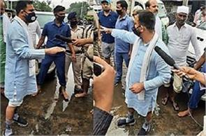 tejaswi took stock of water logging conditions
