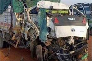 road accident in etawah 2 killed 4 injured including policeman