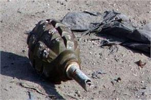 terrorist lobbed gernade in pulwama