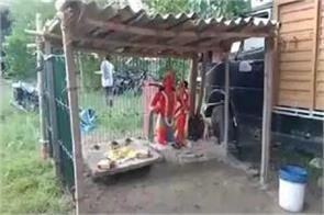 devotees transported lord hanuman to the police station