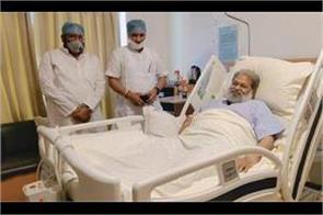 former industries minister vipul goyal and subhash barala reached max hospital