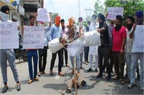 protest in kathua against orissa issue