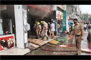 fire accident in chandigarh fierce fire in sector 46 shop loss of 2 crores
