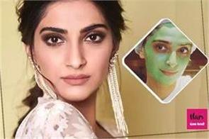 sonam s glowing skin is the secret of mint clay mask