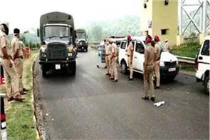 police imposed special barrier on punjab himachal border