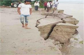 rising water level of rivers villagers get sleepy due to erosion