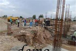 construction work stoped in samba amid lockdown