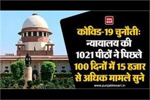 1021 benches of court heard more than 15000 cases in last 100 days