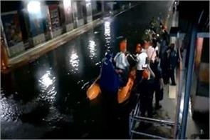 ndrf and rpf evacuate 290 passengers stranded in two local trains in mumbai
