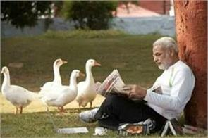 pm modi nature love now photo viral with ducks
