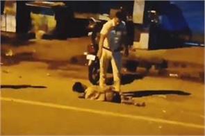 child beaten badly by delhi policeman