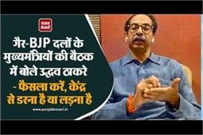 uddhav thackeray said in the meeting of chief ministers of non bjp parties