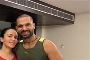 shikhar dhawan gets laila in dubai before ipl starts shared this fun video