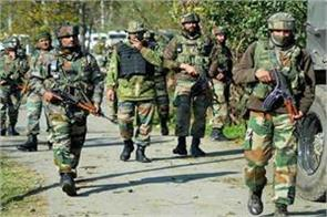 terrorist absconding by throwing grenades at security forces in kulgam