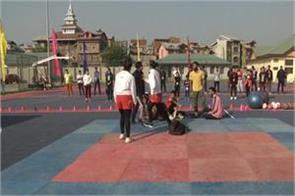 srinagar crpf organizes fitness camp for sportspersons
