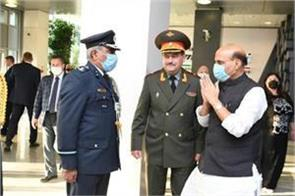 russian officer extended his hand rajnath singh did namaste