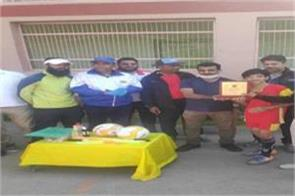 three day inter zonal football tournament held in srinagar