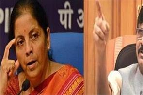 finance minister nirmala sitharaman blames god for economy slump sanjay raut