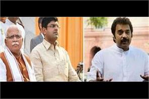 khattar and dushyant will have pay each stick on the farmers kuldeep bishnoi