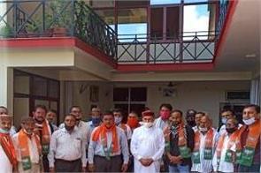 2 dozen people of ootpur purli and charani dhar panchayat joined bjp