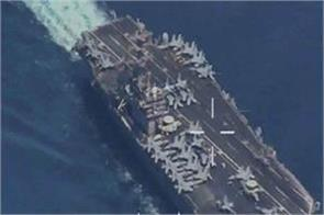 iranian surveillance drone flew over american aircraft carrier