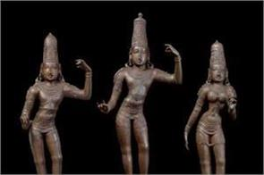 british police returned 3 15th century statues stolen from india 40 years ago
