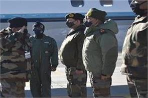 cds rawat chief of air force visited east ladakh