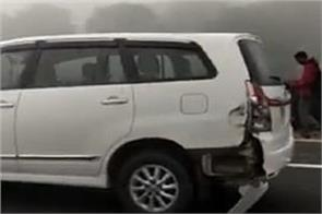 ahmedabad vadodara expressway collided with more than 10 vehicles