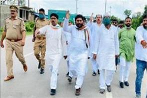many leaders including congress president lallu are in custody
