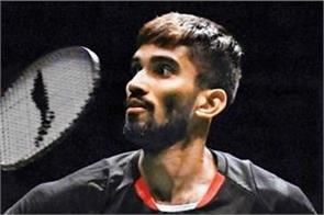 srikanth withdrew from thailand open due to muscle strain