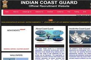 vacancy cleared for 358 posts in indian coast guard pass 12th
