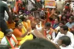 shoe thrown at bjp general secretary kailash vijayvargiya in kolkata