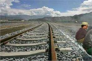 china finishes track laying work for rail line in tibet close to arunachal