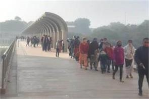 broken records of tourist arrivals at virasat e khalsa on new year